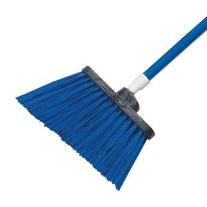 Carlisle Sparta Spectrum 56 inch Duo-Sweep Angle Broom with Un-Flagged Bristle in Blue (Case of 12) by Carlisle