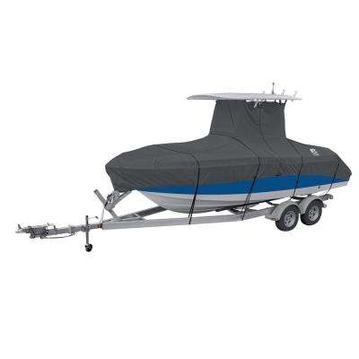 StormPro 20 - 22 ft. Charcoal Grey T-Top Boat Cover