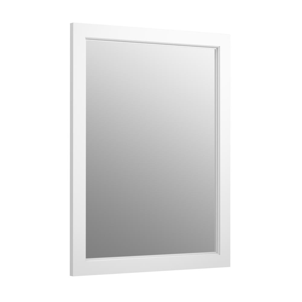 H Recessed Or Surface Mount Anodized Aluminum Medicine Cabinet With Frame In Linen White