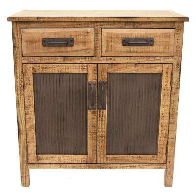 31.5 in. x 14.75 in. Brown Wood Cabinet