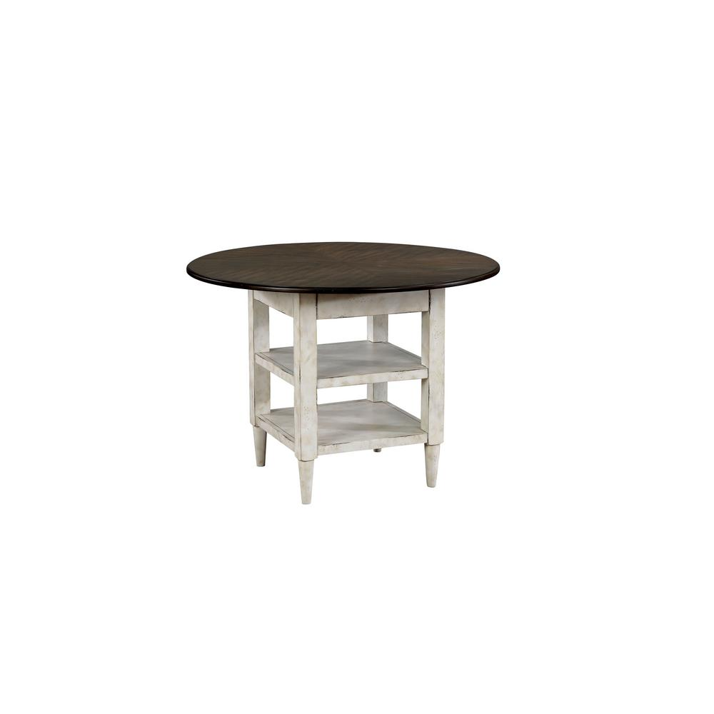 Furniture Of America James Antique White With Oak Round