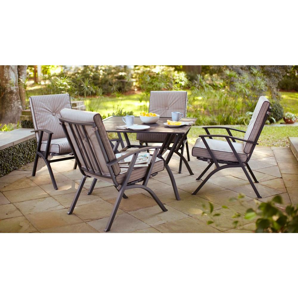Hampton Bay Forward 5-Piece Dining Patio Set with Cushions-DISCONTINUED