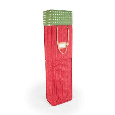 Red And Green Polka Dot Wrapping Paper Storage Box