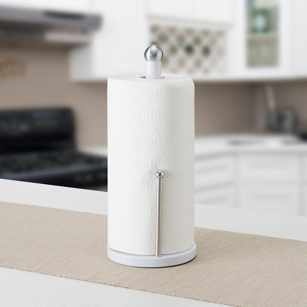 White Paper Towel Holder