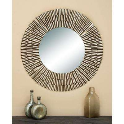 Contemporary 41 in. Fluted Framed Mirror