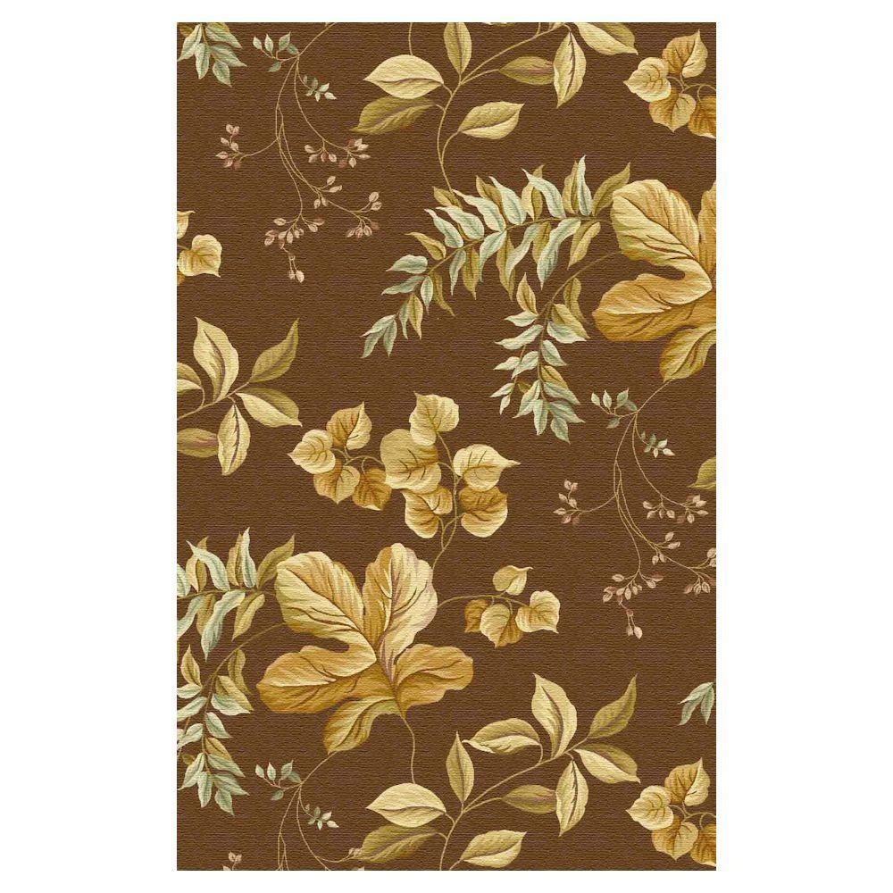 Kas Rugs Floral Sand 5 ft. 3 in. x 8 ft. 3 in. Area Rug
