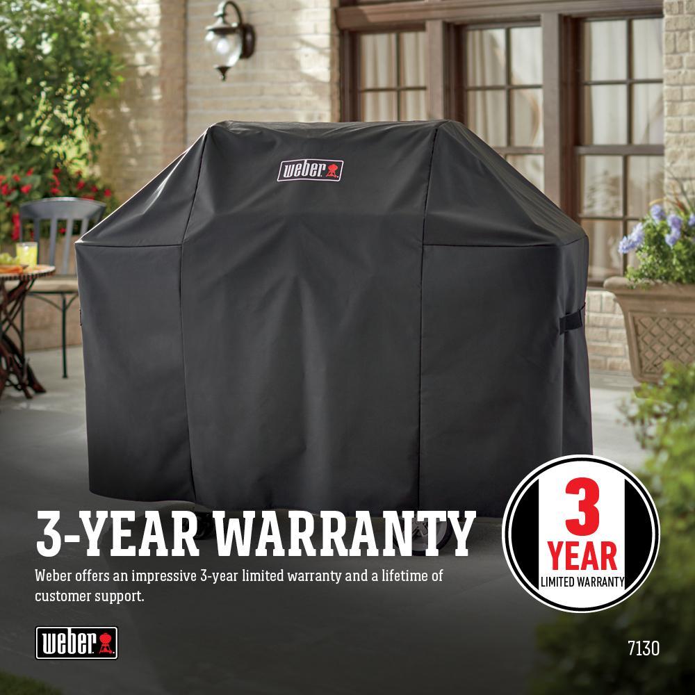Weber Genesis Ii 3 Burner Premium Gas Grill Cover 7130 The Home Depot