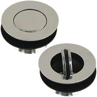 Sink Drain with Flip Stopper, Chrome Plated Brass