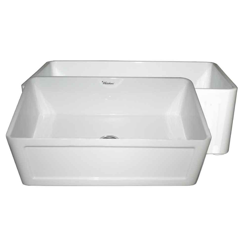 Apron Kitchen Sinks: Whitehaus Collection Reversible All-in-One Apron Front