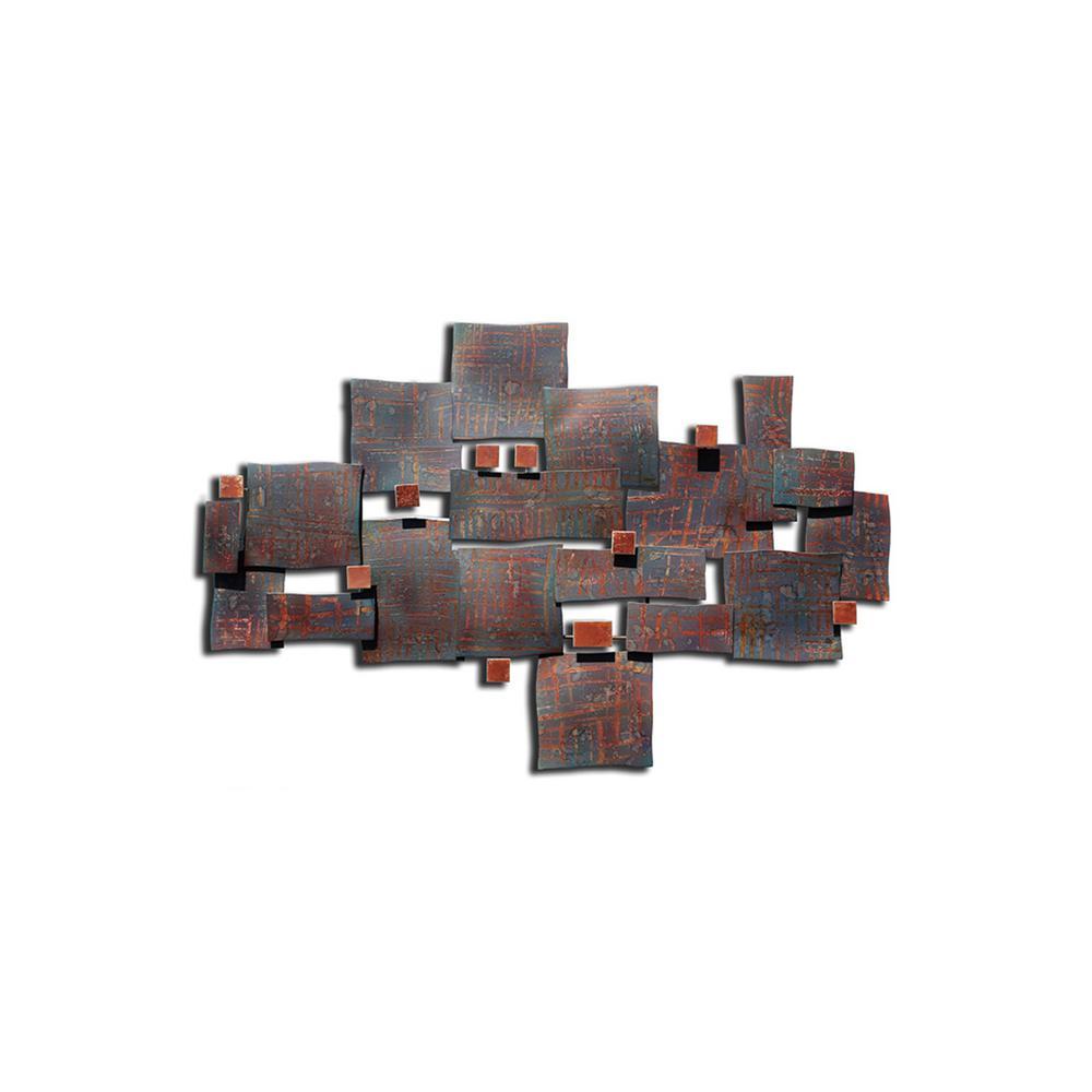 42.5 in. x 28 in. x 3 in. Kaso Metal Wall Art