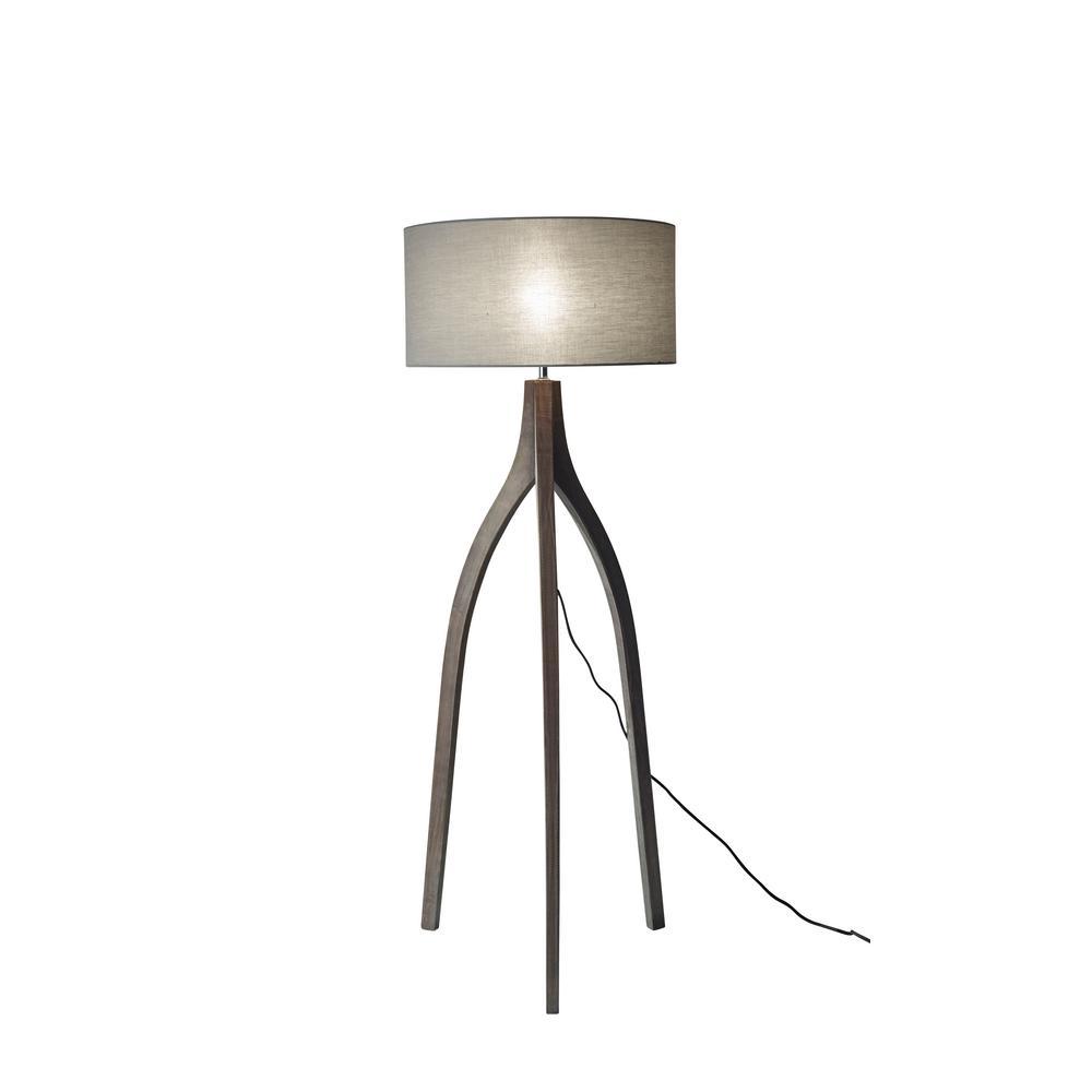Sherwood 63 in. Black Floor Lamp