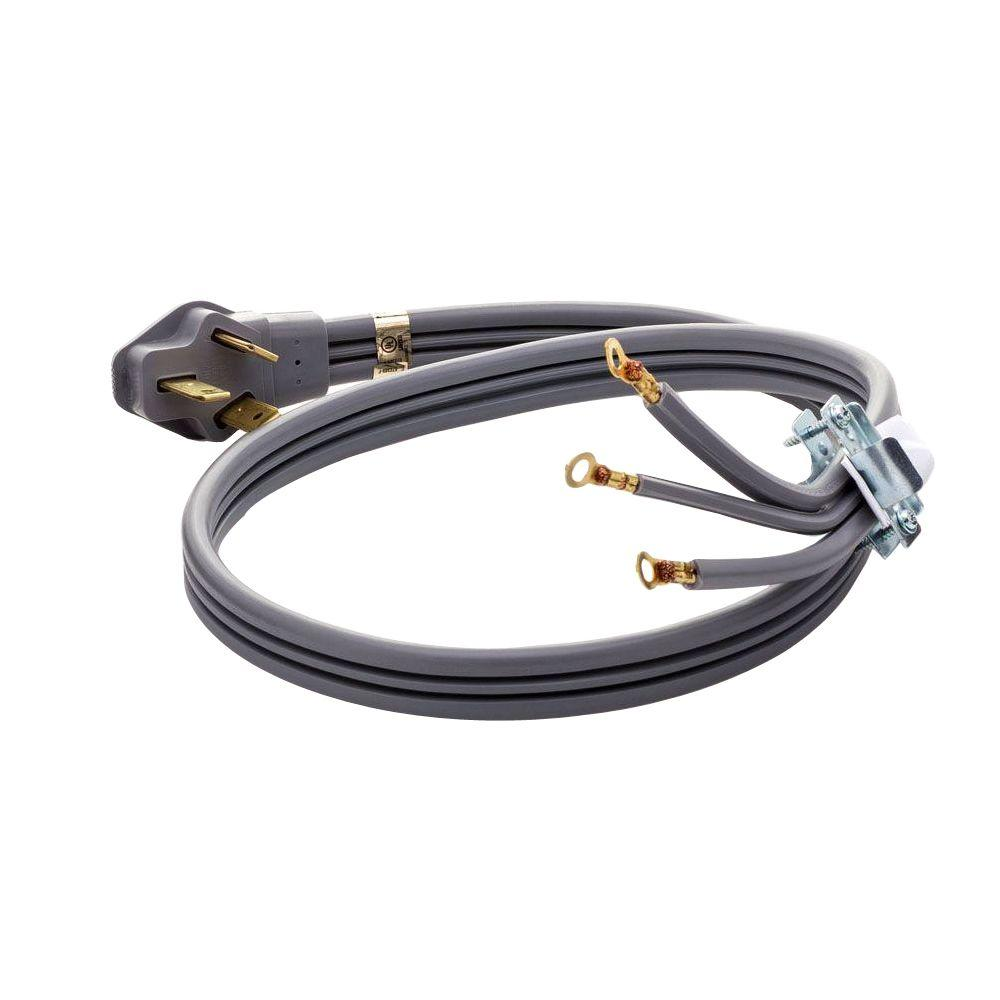 Smart Choice 4 Ft 50 Amp 3 Prong Range Cord 5304493423 The Home Depot How To Wire A Three Plug