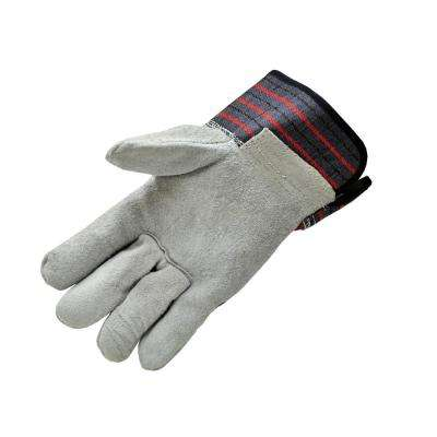 Premium Cowhide Large Leather Palm with Heavy Duty Fabric Gloves (60-Case)