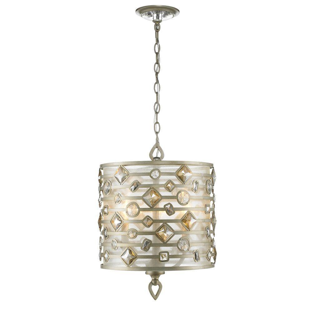 Zuri Collection 3 Light White Gold Pendant
