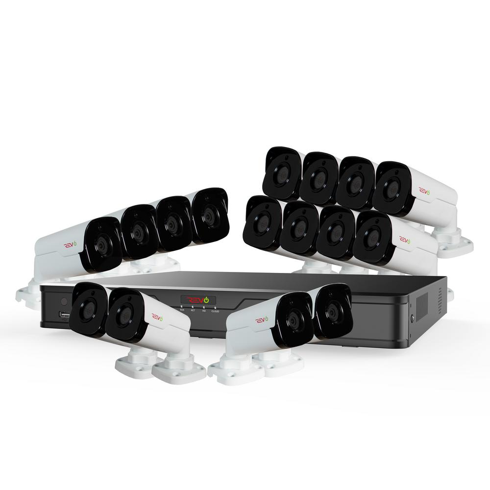Ultra HD Audio Capable 16-Channel 4TB NVR Surveillance System with Sixteen