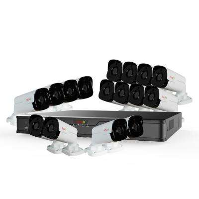 Ultra HD Audio Capable 16-Channel 4TB 4K NVR Surveillance System with Sixteen 4 Megapixel Cameras
