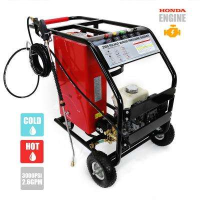 2500 PSI 2.6 GPM Gas Pressure Washer Powered by Honda