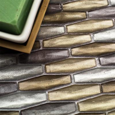 Summit Hazy Daze Pebble/Rock 11 3/4 in.  x 10 1/8 in. Polished Marble Mosaic Tile