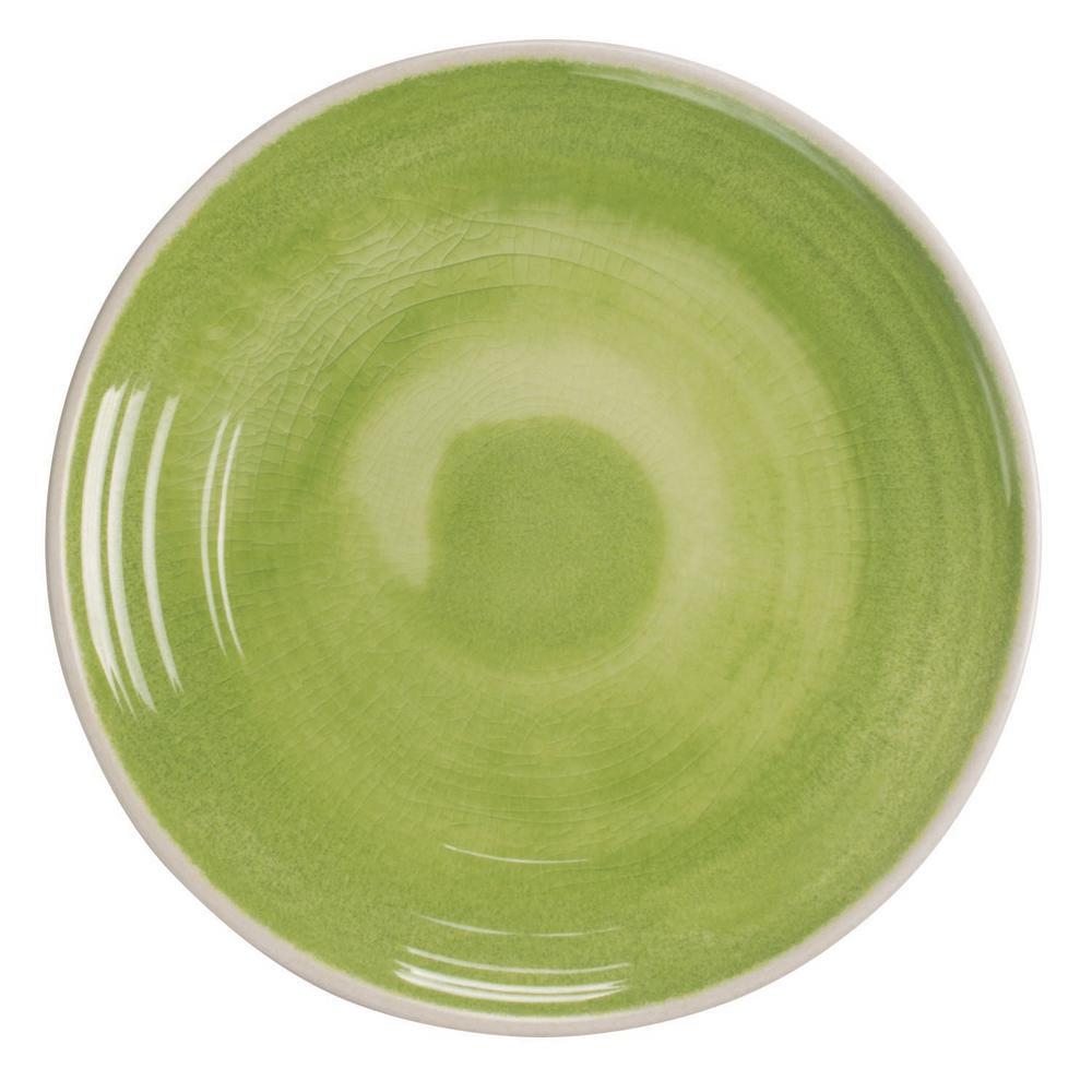 Raku Green Dinner Plate