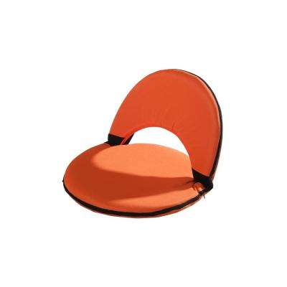 Adjustable Orange Outdoor Lounge Chair Cushion