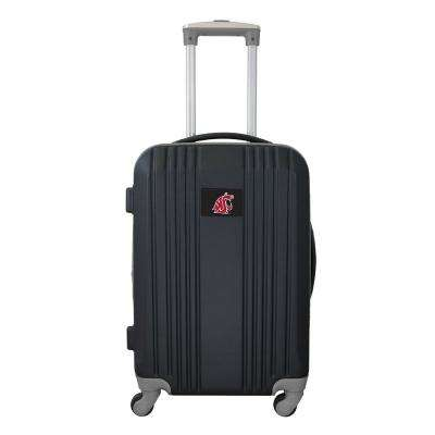 NCAA Washington State 21 in. Gray Hardcase 2-Tone Luggage Carry-On Spinner Suitcase