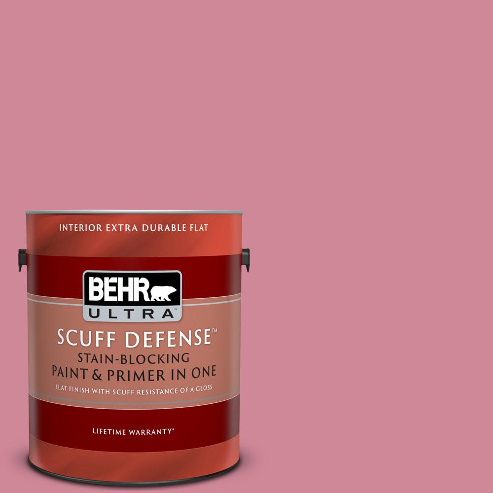 Behr Ultra 1 Gal M140 4 Fruit Cocktail Extra Durable Flat Interior Paint And Primer In One 172401 The Home Depot