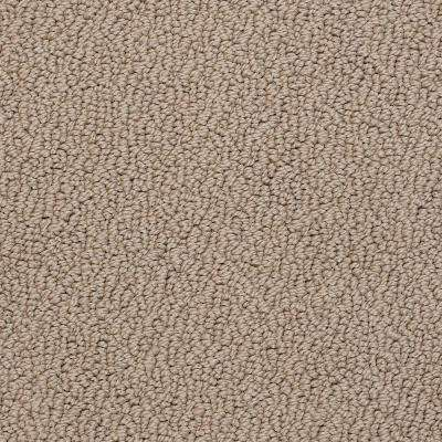 Carpet Sample - Out of Sight III - Color Sandstone Texture 8 in. x 8 in.