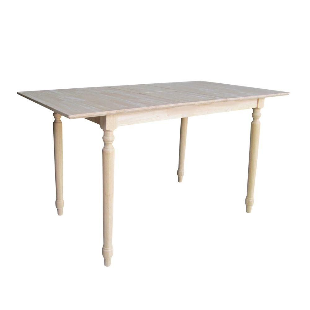 International Concepts Unfinished Pub Bar Table K T32x 336t The Home Depot