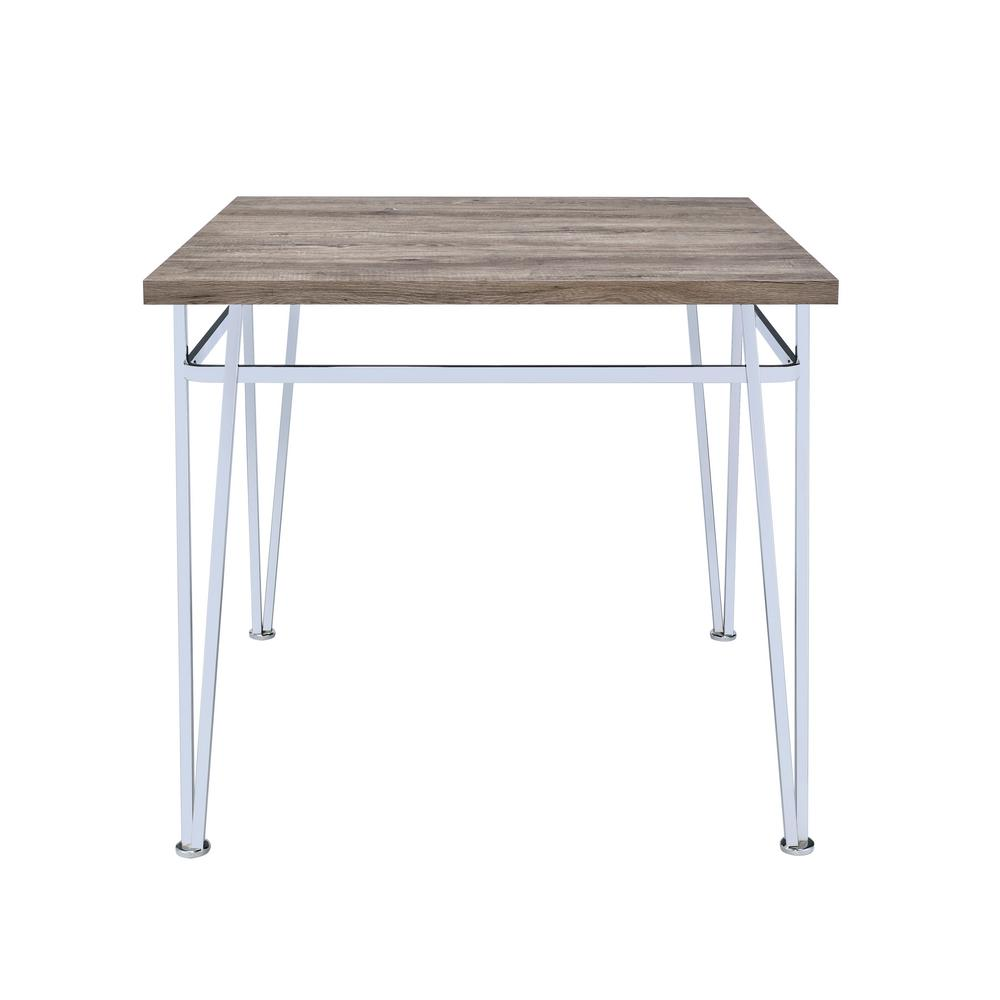 Nadie II Light Oak and Chrome Counter Height Table