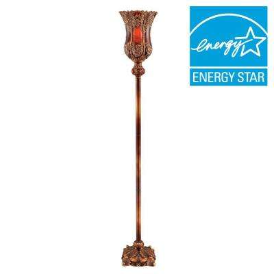 75 in. Reddish Brown Torch Lamp