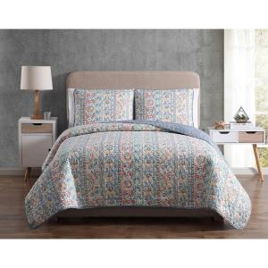 MHF Home Colleen Full/Queen Floral Quilt Set