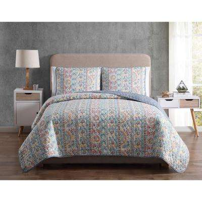 Morgan Home Colleen King Floral Quilt Set
