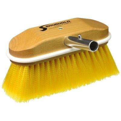 8 in. Window and Hull Brush with Soft Yellow Polystyrene Bristles