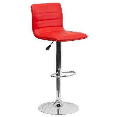 red bar stools. Adjustable Height Red Cushioned Bar Stool Stools