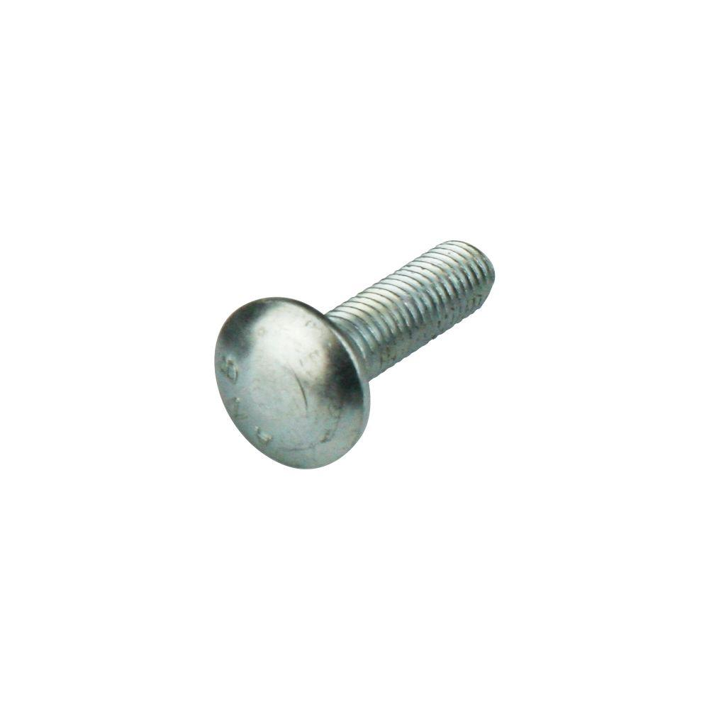 Everbilt 1/4 in.-20 x 2-1/2 in. Zinc Plated Carriage Bolt