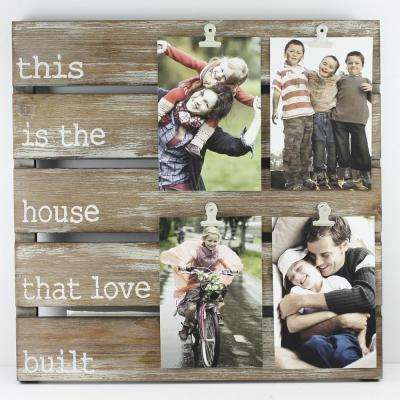 The House That Love Built 4 in. x 6 in. Brown Clip Picture Frame
