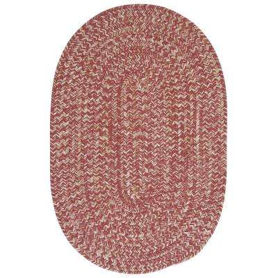 Cicero Rosewood 12 ft. x 15 ft. Oval Area Rug