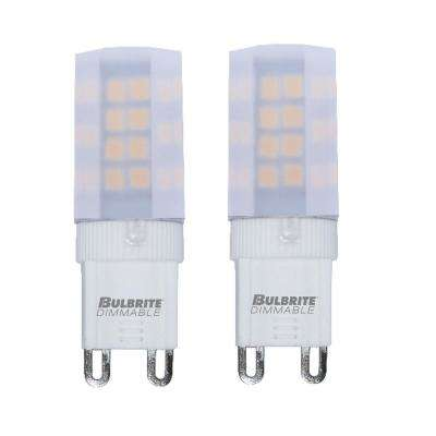 35-Watt Equivalent T4 Dimmable Bi-Pin (G9) LED Light Bulb Soft White (2-Pack)