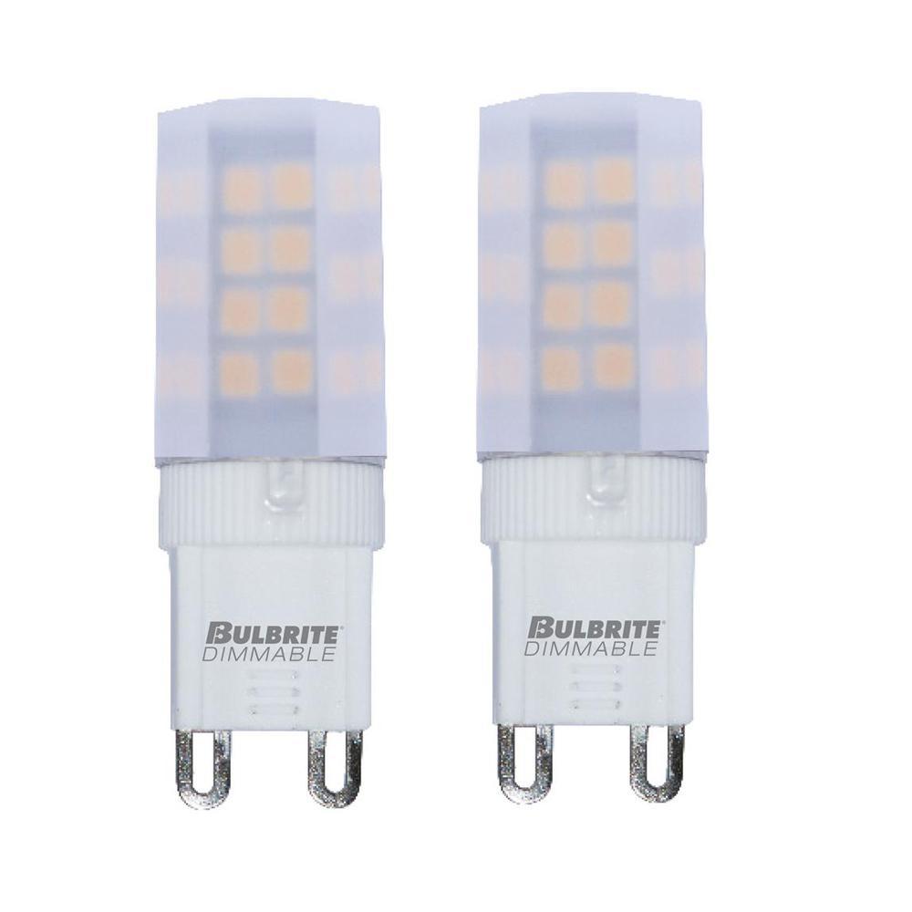 35-Watt Equivalent T4 Dimmable Bi-Pin (G9) LED Light Bulb Soft White (2-Pack)