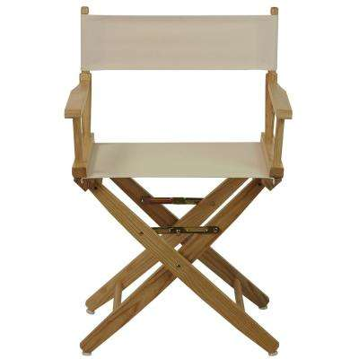 Extra-Wide 18 in. Natural Frame/Natural Canvas American Hardwood Directors Chair