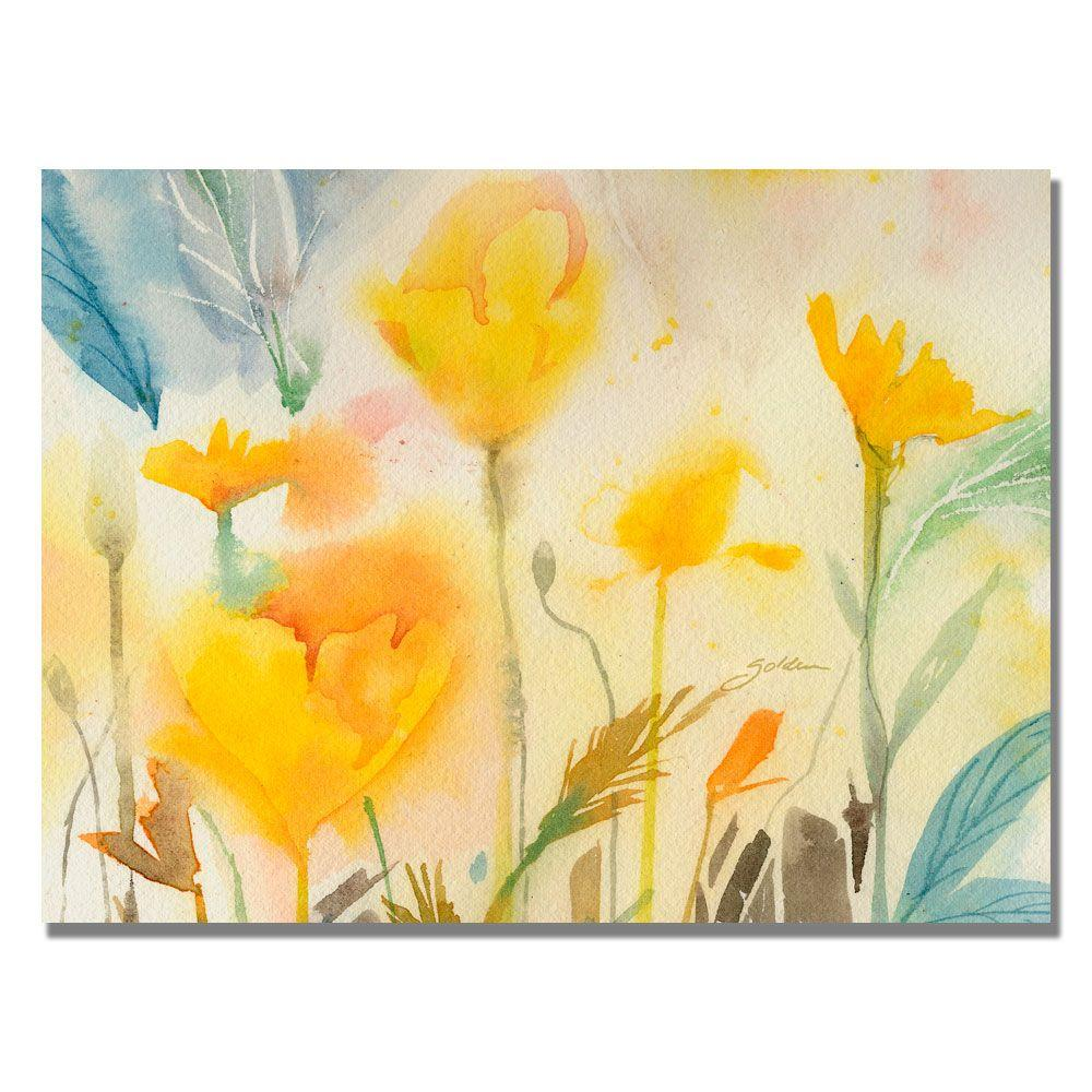 Trademark Fine Art 24 in. x 32 in. Yellow Poppies Canvas Art