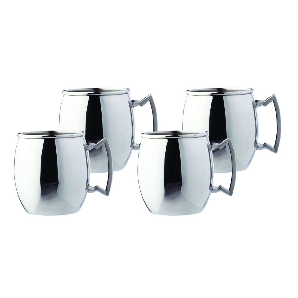 16 oz. Steelii Stainless Steel Moscow Mule Mug (Set of 4)