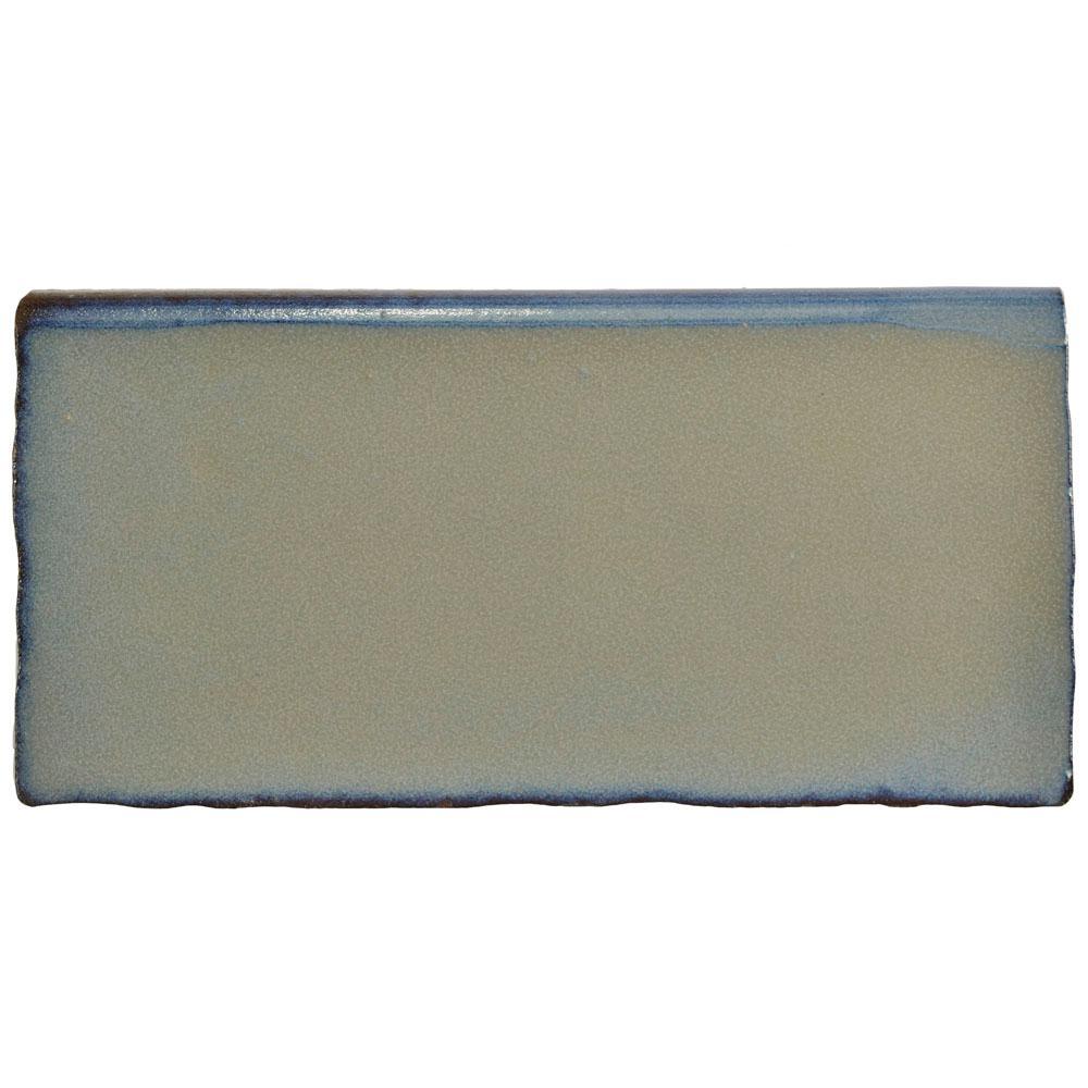 Antic Special Griggio 3 in. x 6 in. Ceramic Bullnose Wall Trim Tile