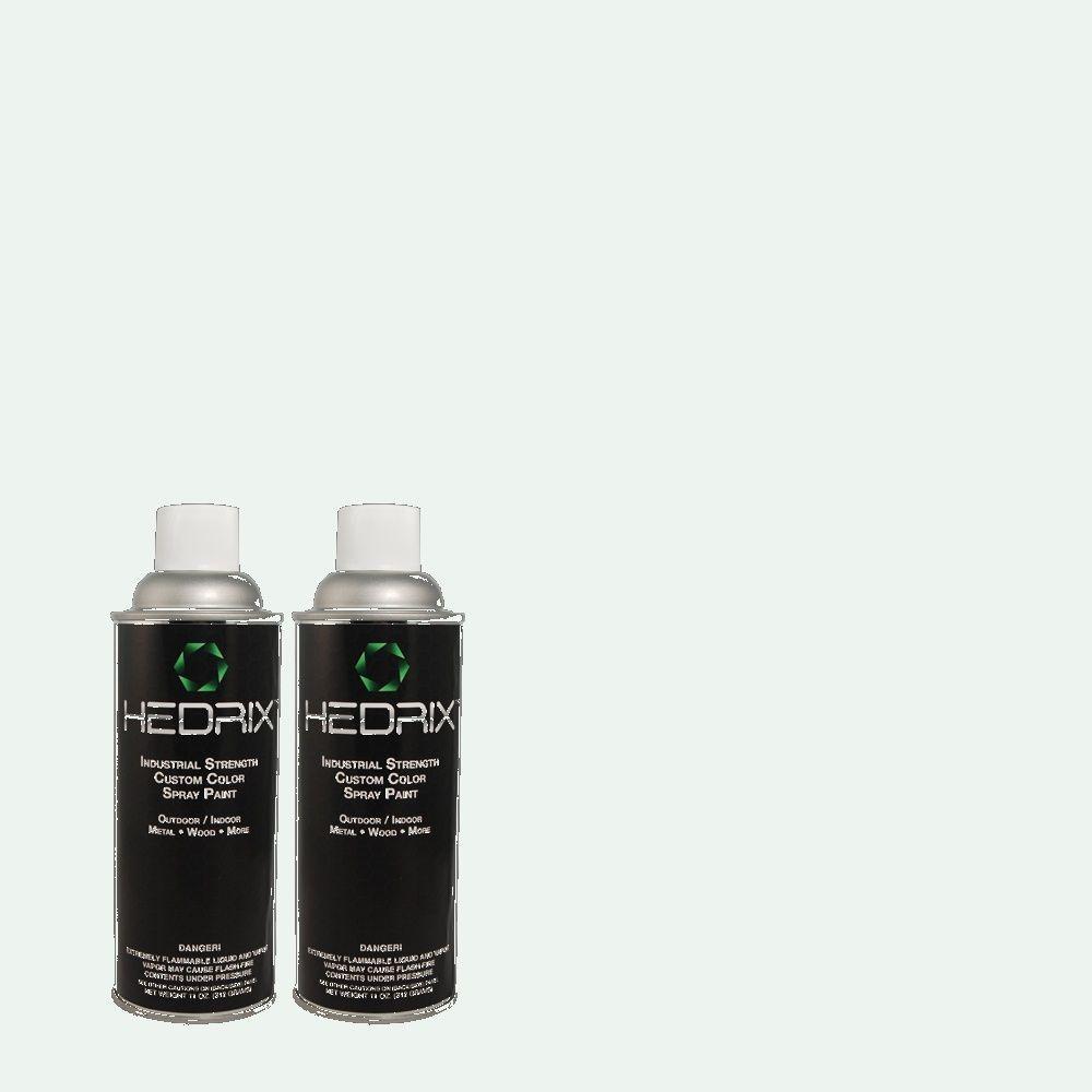 Hedrix 11 oz. Match of 730E-1 Polar White Semi-Gloss Custom Spray Paint (2-Pack)