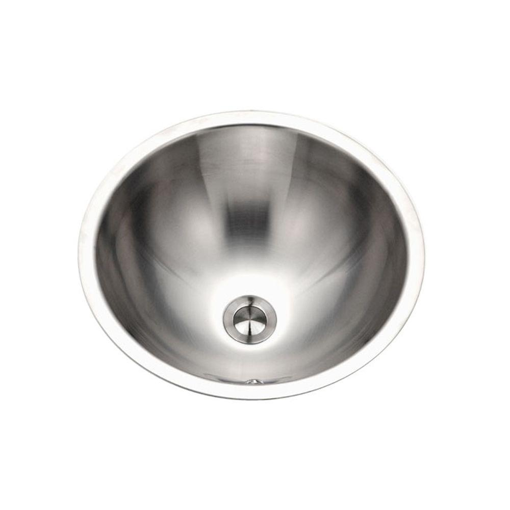 Opus Series 16.8 in. Conical Top Mount Single Bowl Lavatory Sink