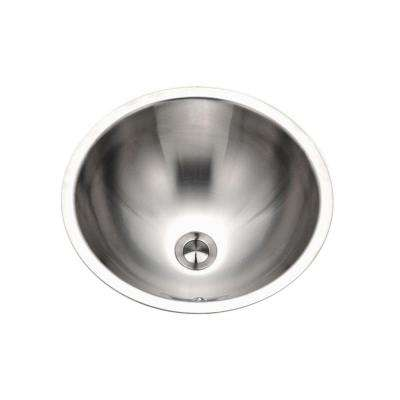 Opus Series 16.8 in. Conical Top Mount Single Bowl Lavatory Sink with Overflow in Stainless Steel