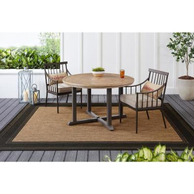 48 in. Round Steel Outdoor Dining Table