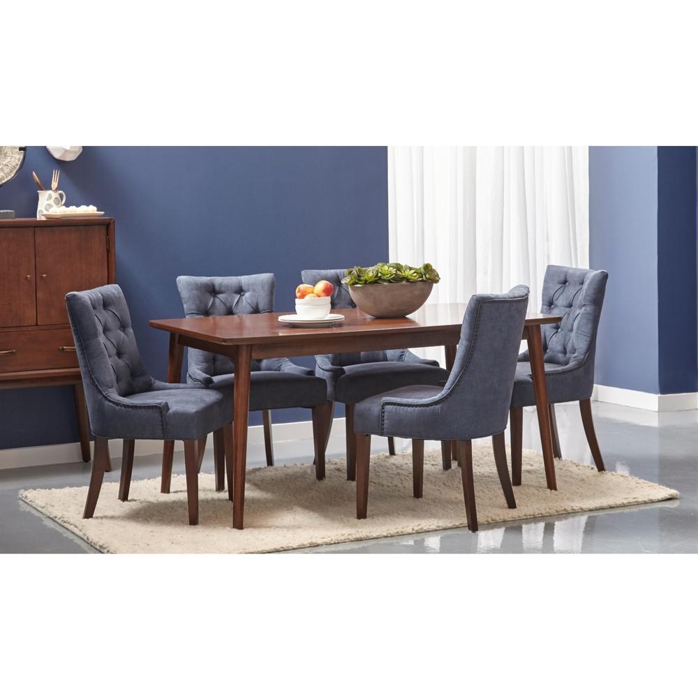 +3. Pulaski Furniture Dark Wash Denim Dining Chair