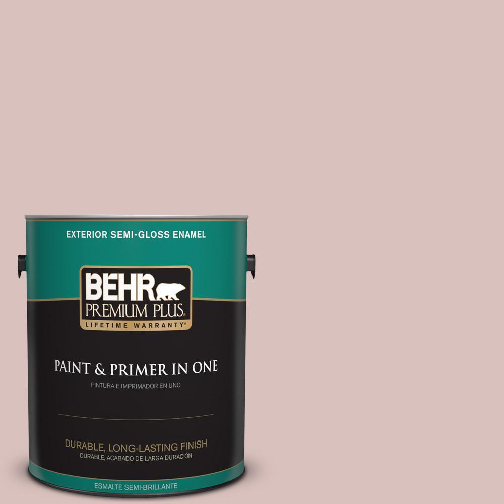 1 gal. #PPU17-08 Peony Blush Semi-Gloss Enamel Exterior Paint