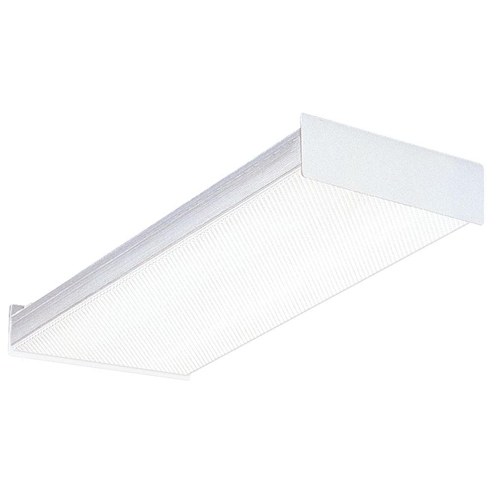 Lithonia Lighting 2-Light Square Basket Fluorescent Wraparound for Residential Use